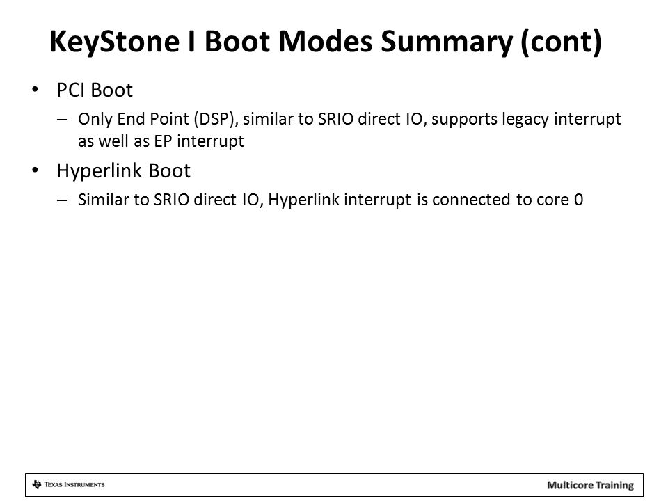 KeyStone+I+Boot+Modes+Summary+%28cont%29 keystone bootloader ppt download  at edmiracle.co