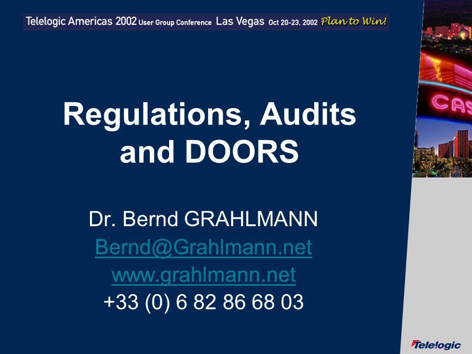 Regulations, Audits and DOORS