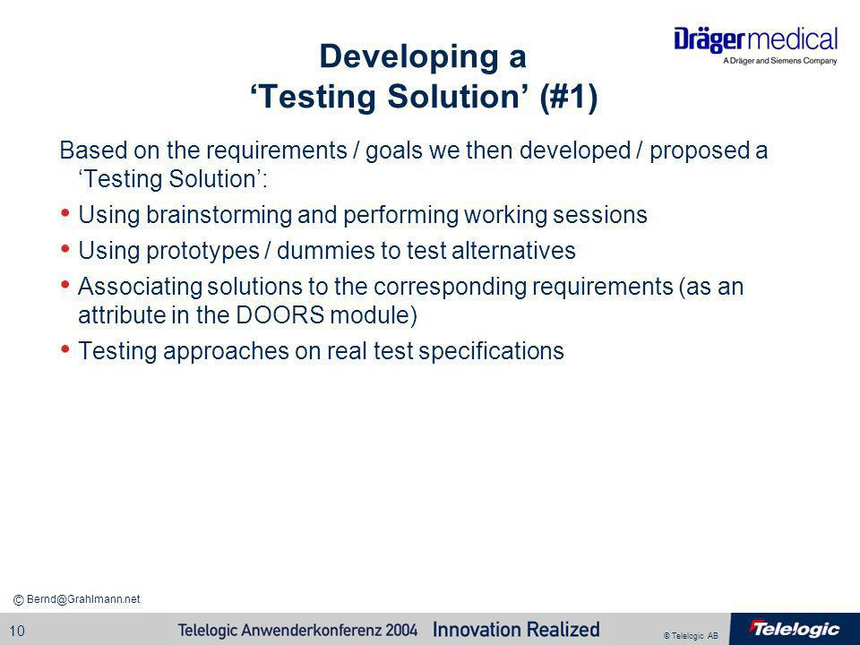 Developing a 'Testing Solution' (#1)