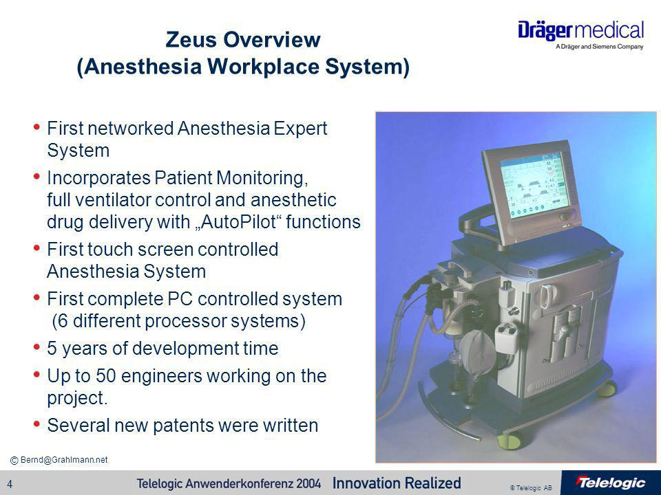 Zeus Overview (Anesthesia Workplace System)