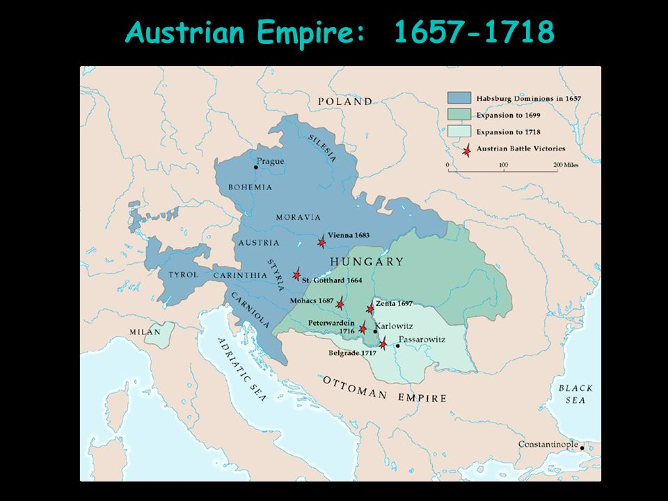 Austrian Empire: 1657-1718