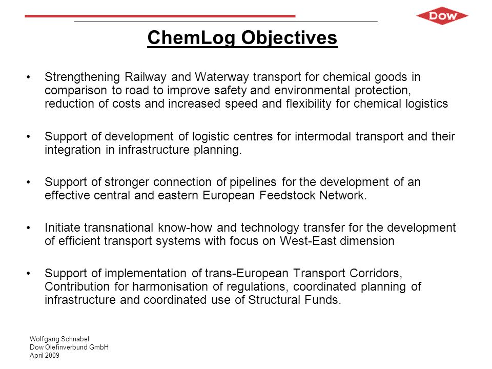 ChemLog Objectives