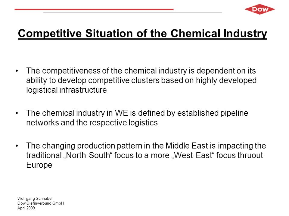 Competitive Situation of the Chemical Industry
