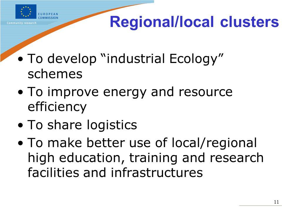 Regional/local clusters