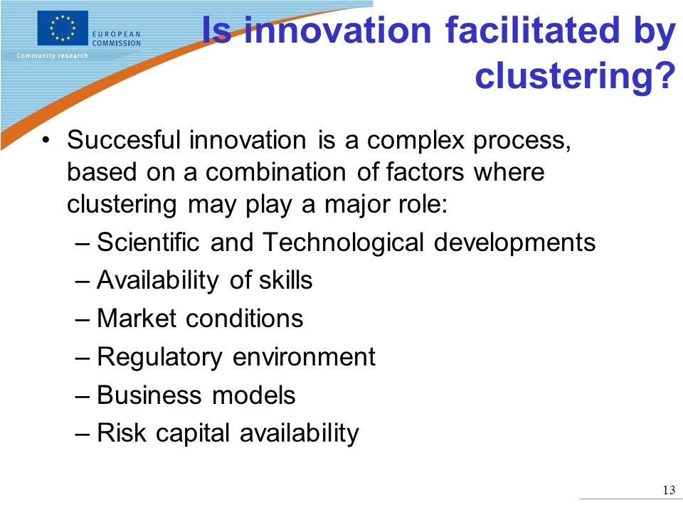Is innovation facilitated by clustering