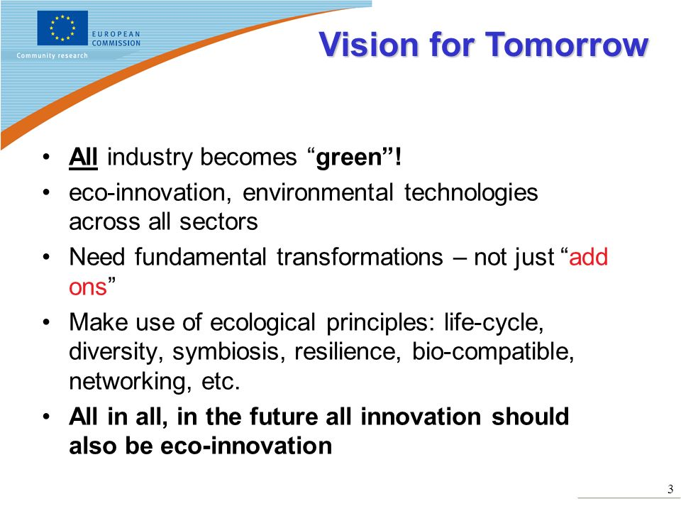 Vision for Tomorrow All industry becomes green !