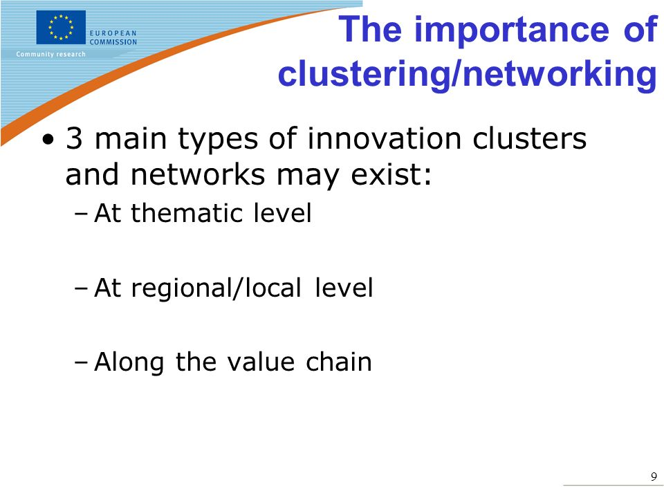 The importance of clustering/networking