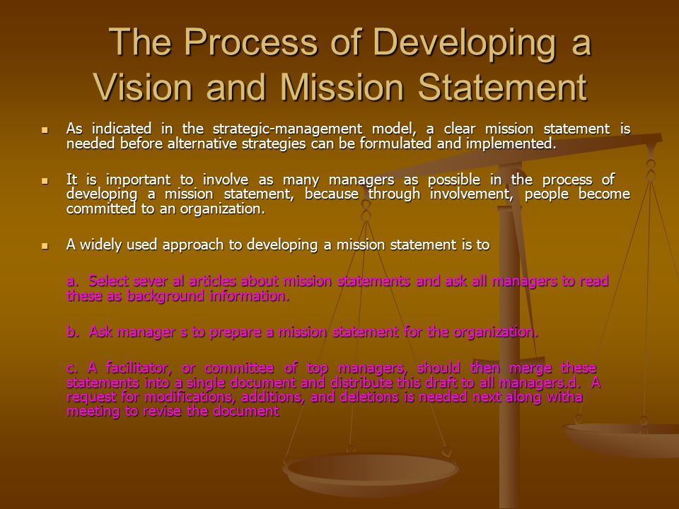 A Report On The Importance Of A Mission Statement Within An