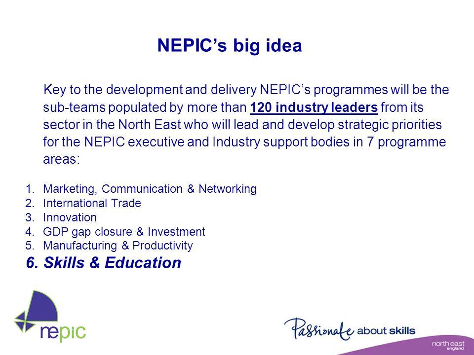 NEPIC's big idea Skills & Education