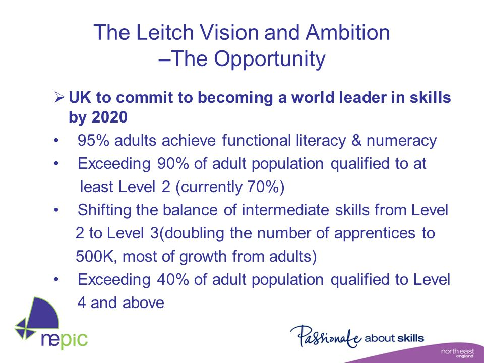 The Leitch Vision and Ambition –The Opportunity