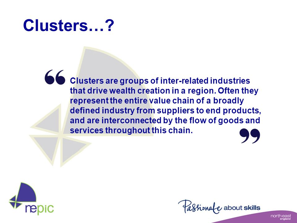 Clusters…