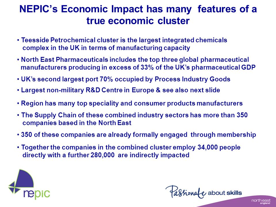 NEPIC's Economic Impact has many features of a true economic cluster