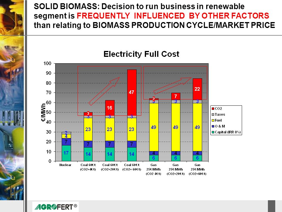 SOLID BIOMASS: Decision to run business in renewable segment is FREQUENTLY INFLUENCED BY OTHER FACTORS than relating to BIOMASS PRODUCTION CYCLE/MARKET PRICE