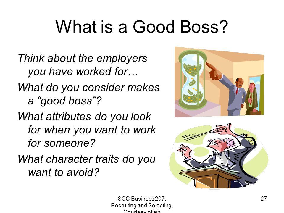 characteristics of a good boss