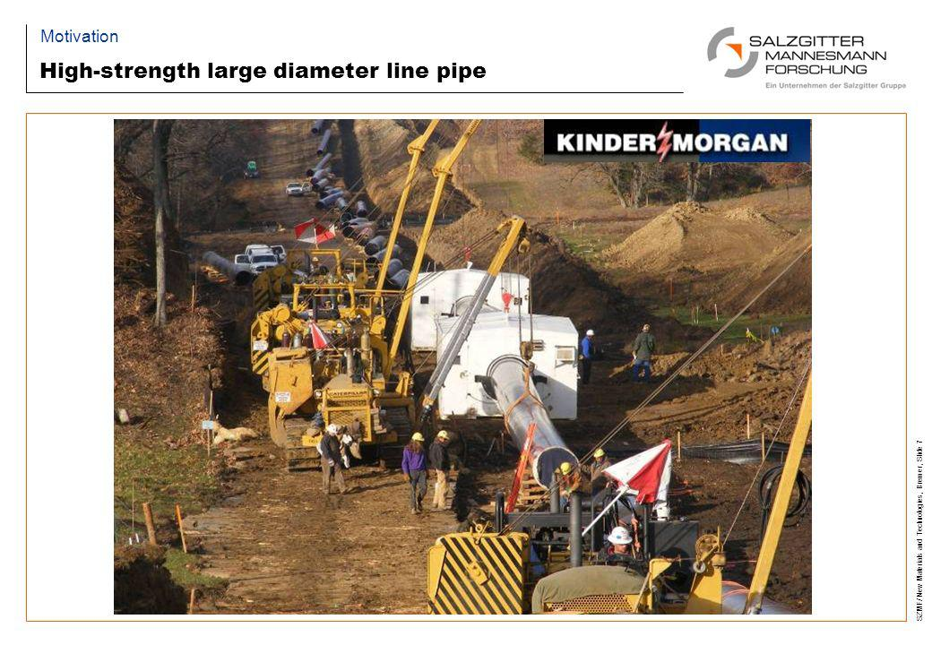 High-strength large diameter line pipe