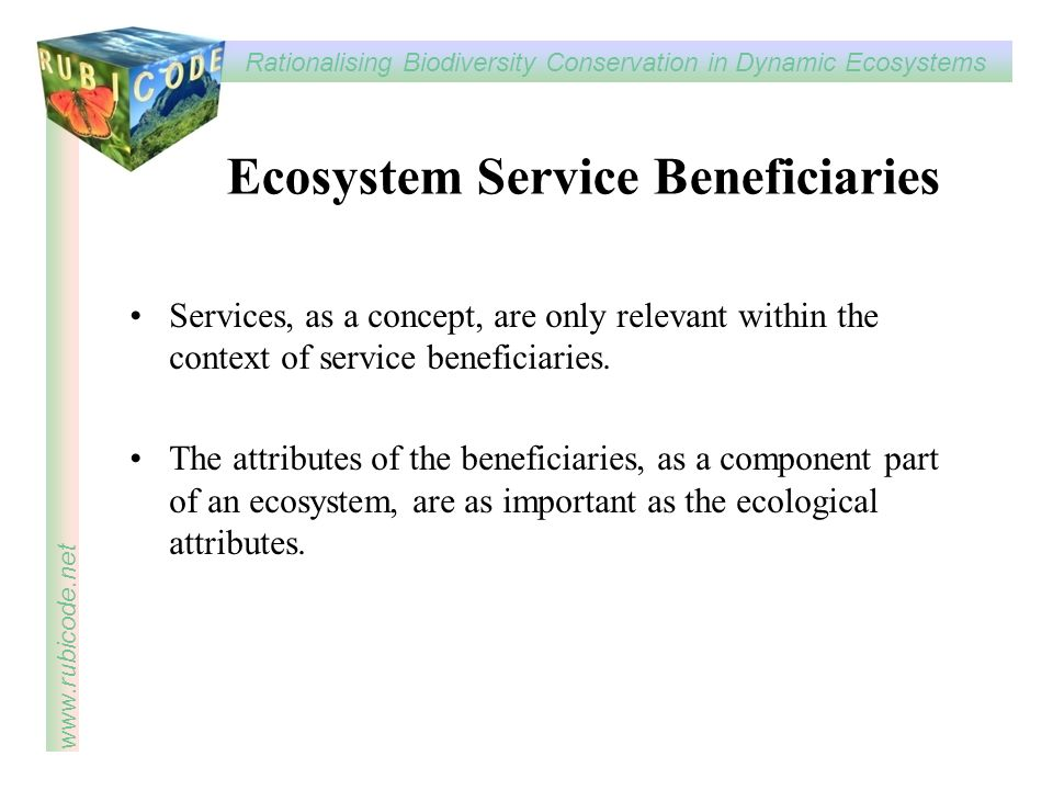 Ecosystem Service Beneficiaries