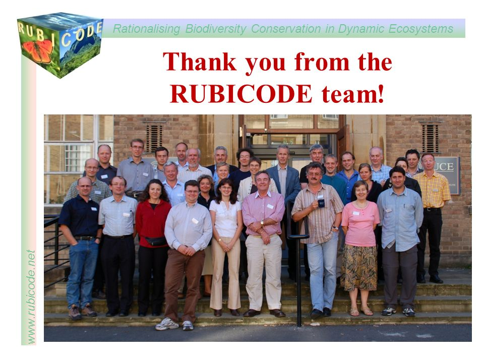 Thank you from the RUBICODE team!