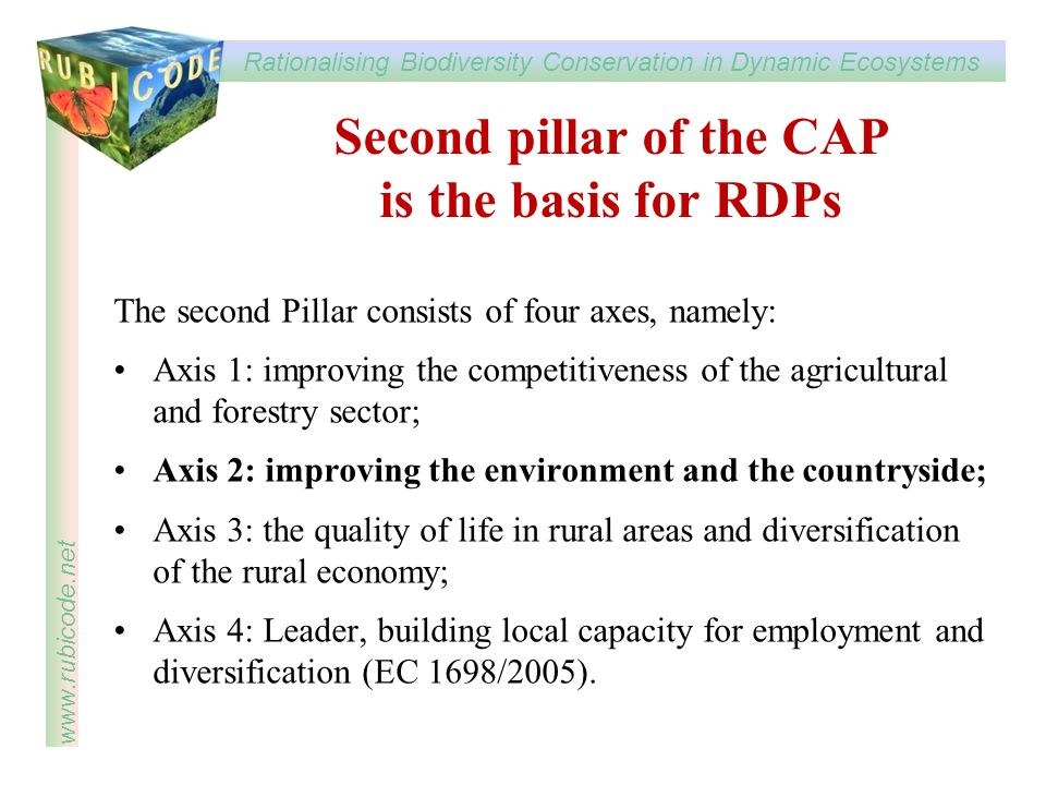Second pillar of the CAP is the basis for RDPs
