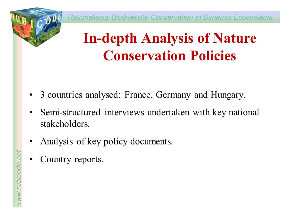 In-depth Analysis of Nature Conservation Policies