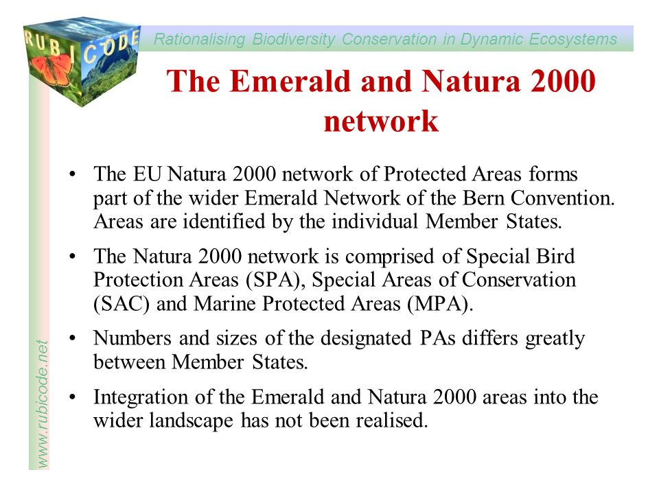The Emerald and Natura 2000 network