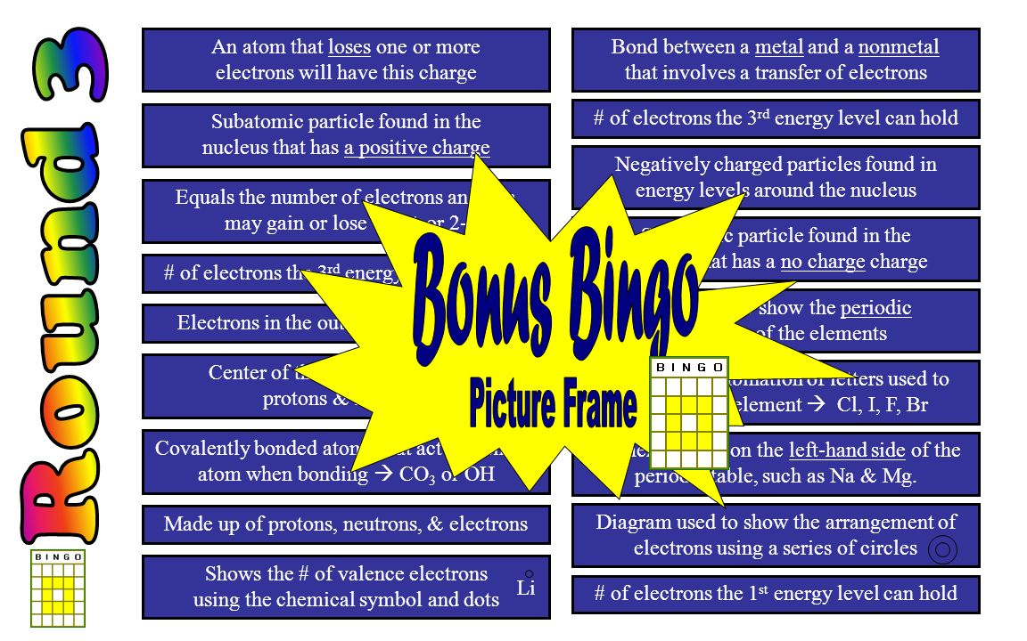 Chapter 1 bingo review chemistry of matter ppt download 4 round gamestrikefo Gallery