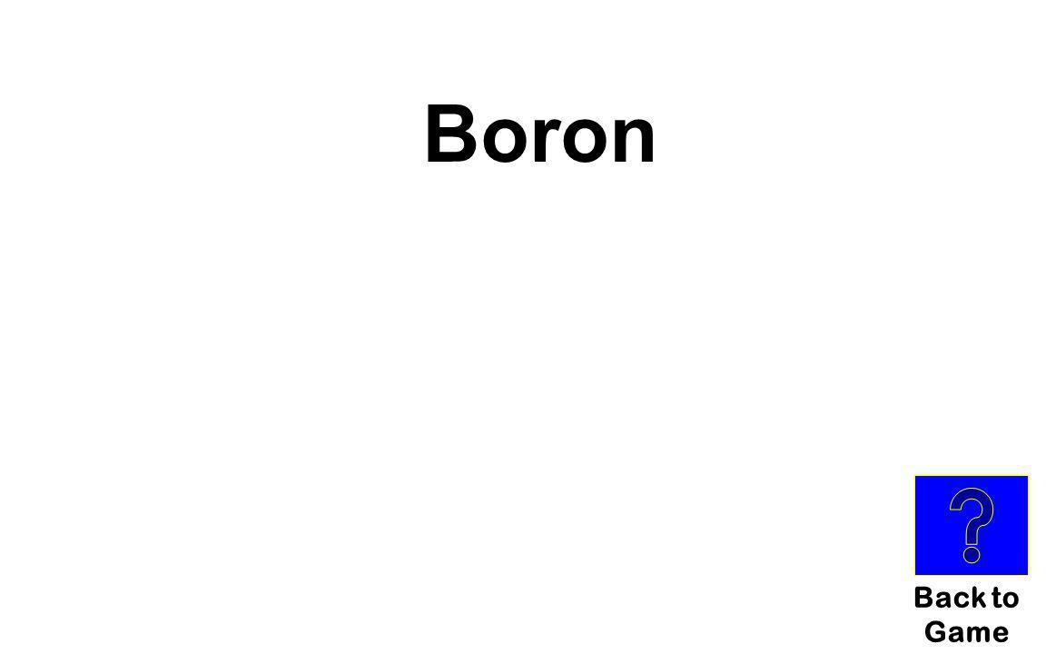 Boron Back to Game