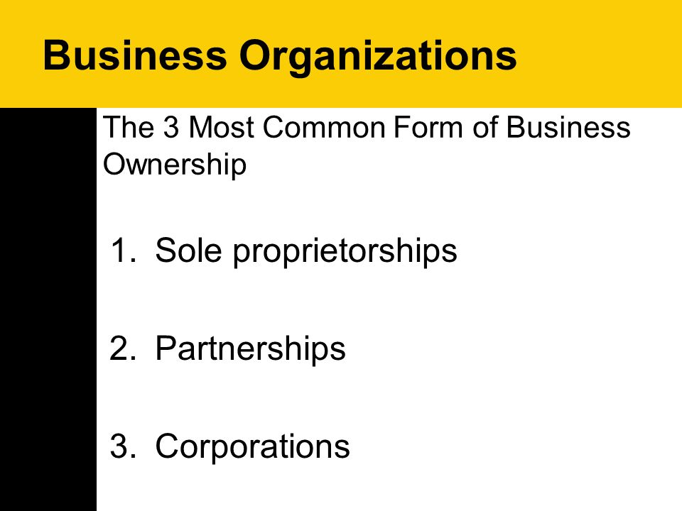 most common form of business ownership