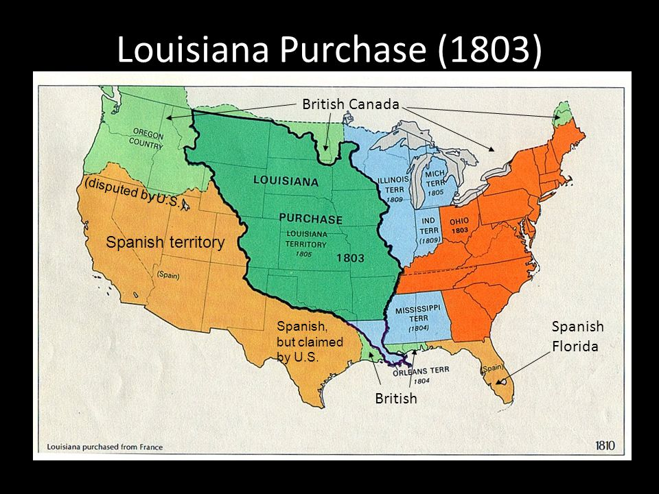 an overview of the louisiana purchase of 1803 Overview unlike many other  (1743-1803), a self-educated  orleans and st louis began referring to themselves as creoles after the louisiana purchase to set.