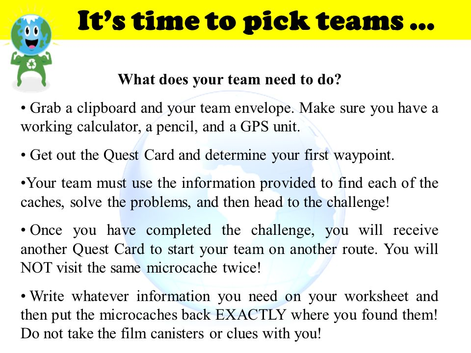 What does your team need to do
