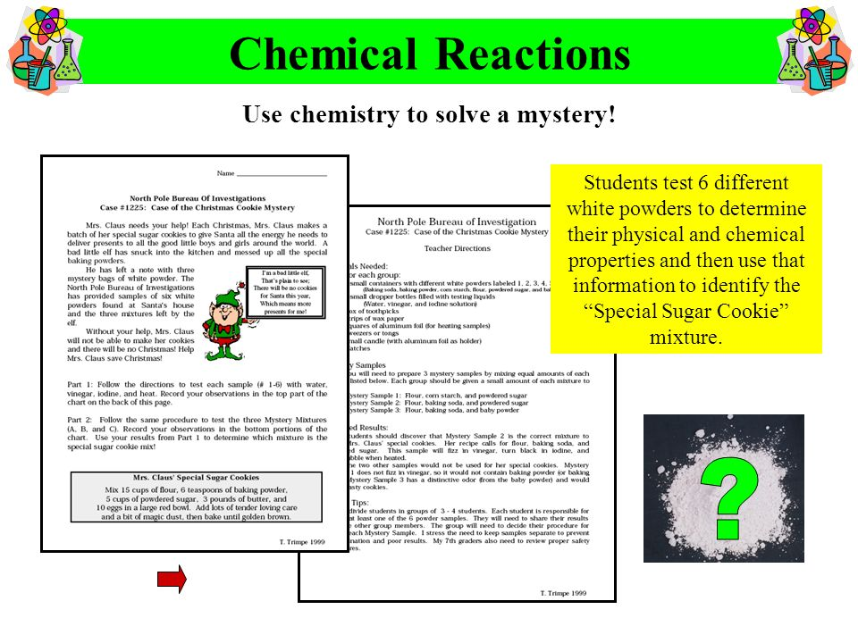 Use chemistry to solve a mystery!