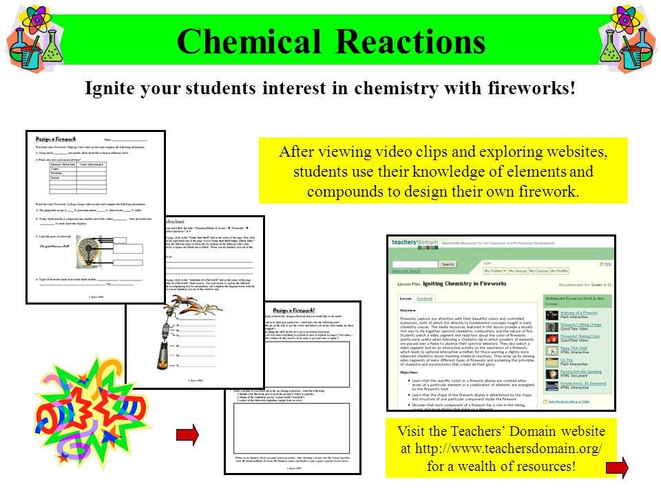 Ignite your students interest in chemistry with fireworks!