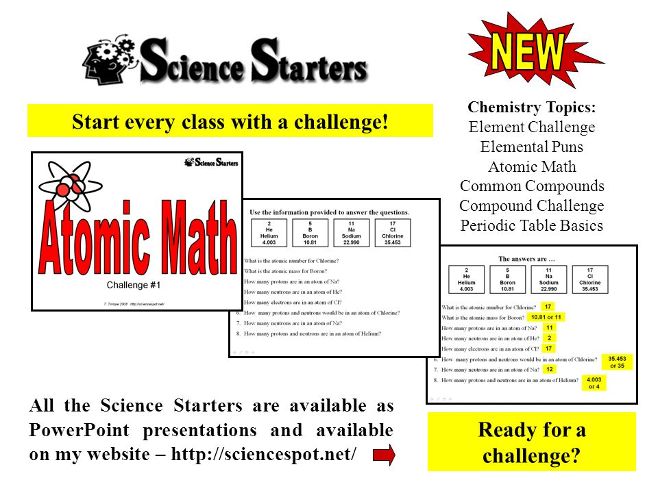 Start every class with a challenge!