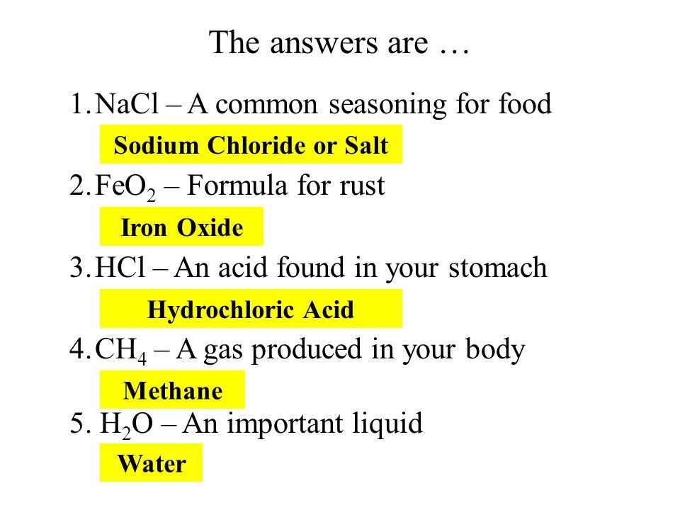 Sodium Chloride or Salt