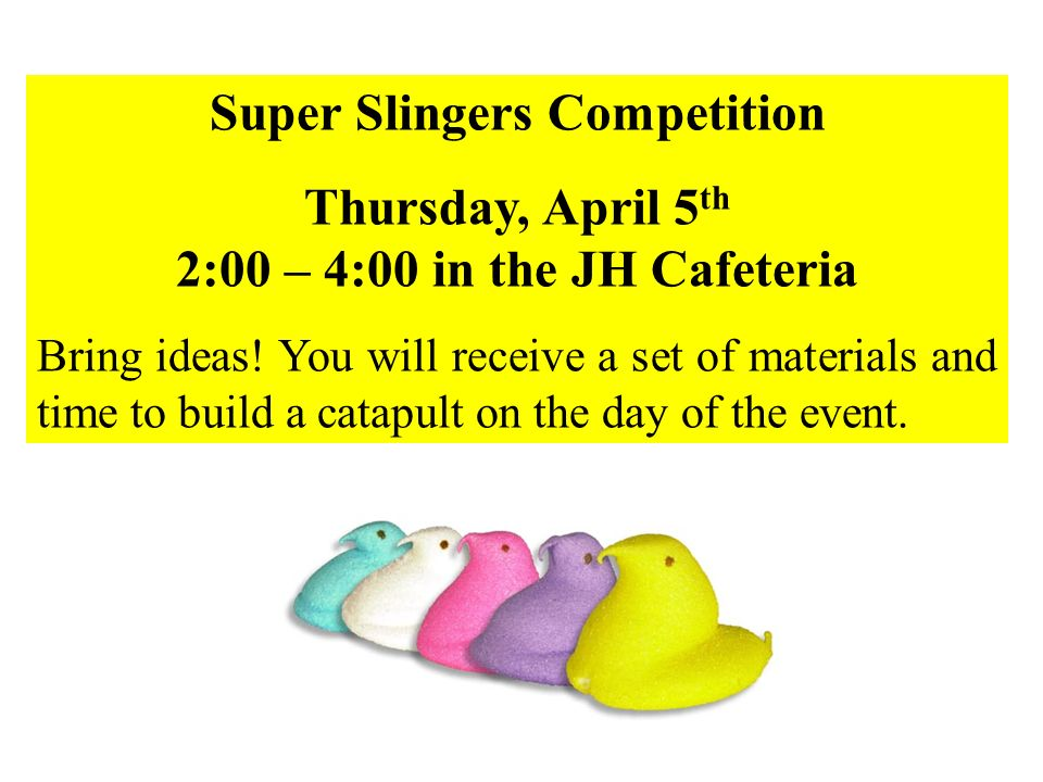 Super Slingers Competition
