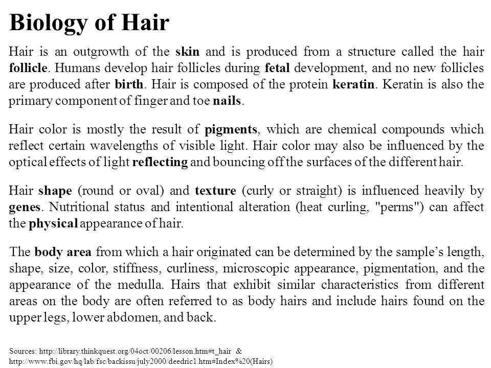 Biology of Hair