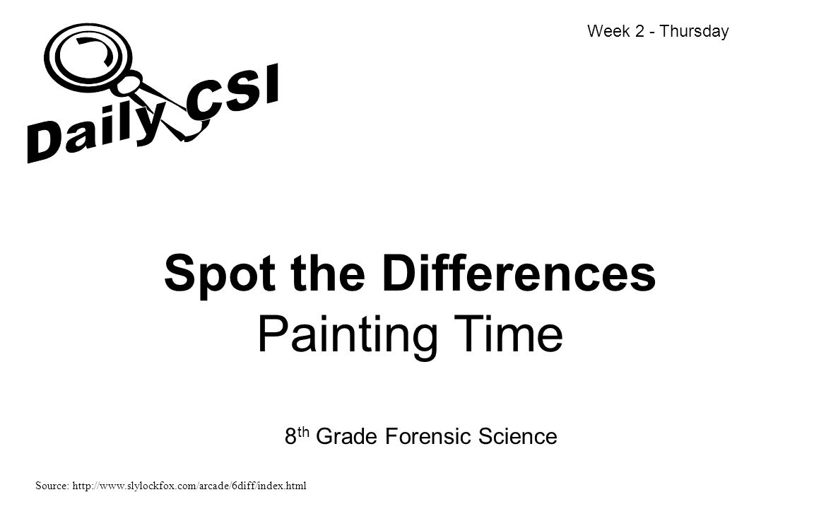 Spot the Differences Painting Time