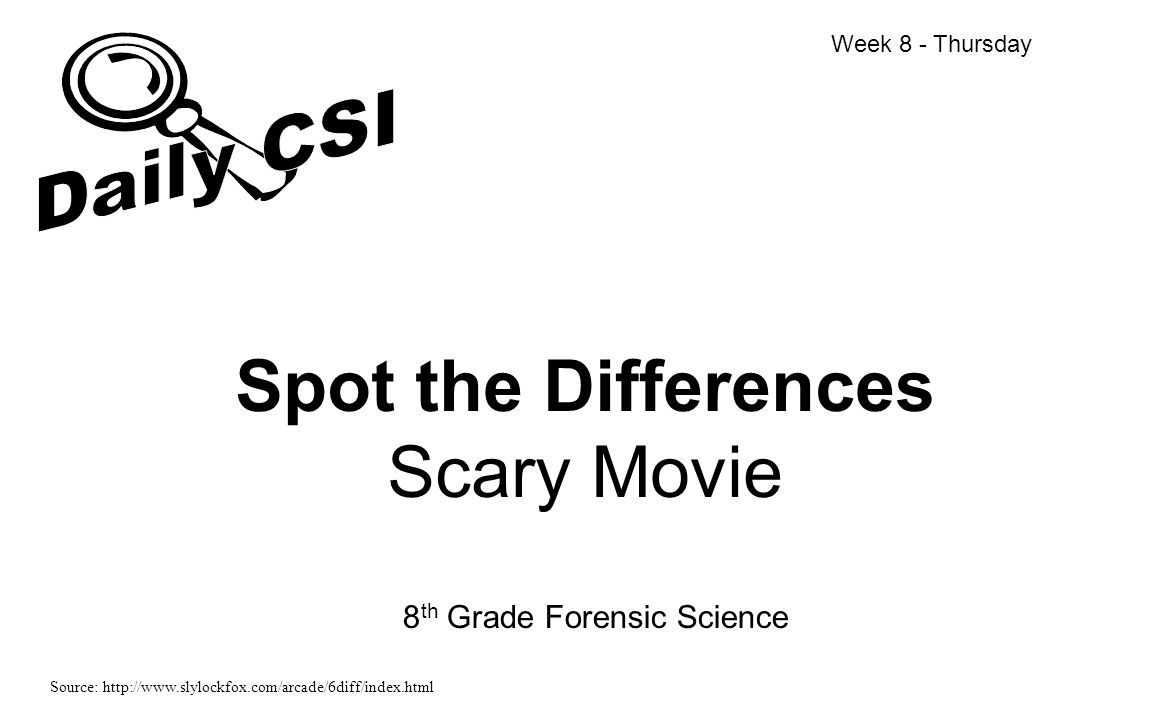 Spot the Differences Scary Movie
