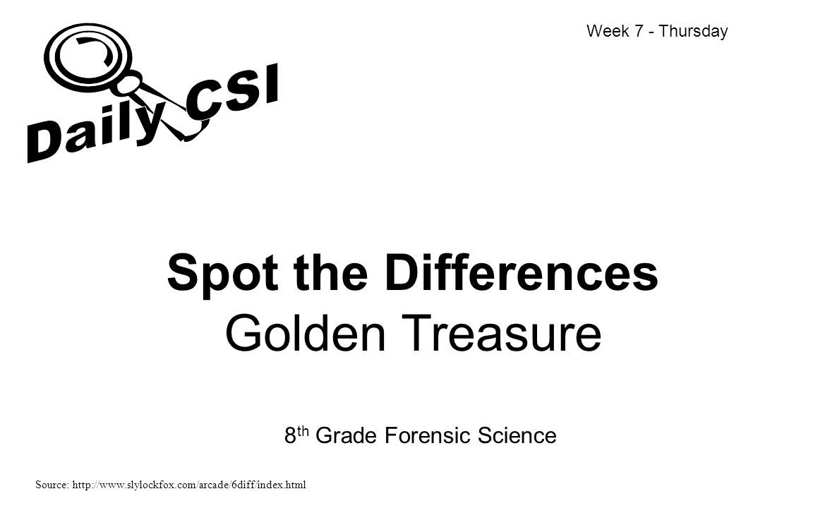 Spot the Differences Golden Treasure
