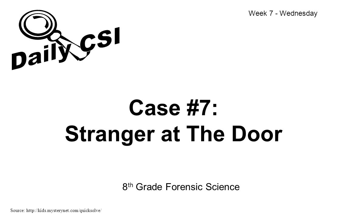 Case #7: Stranger at The Door
