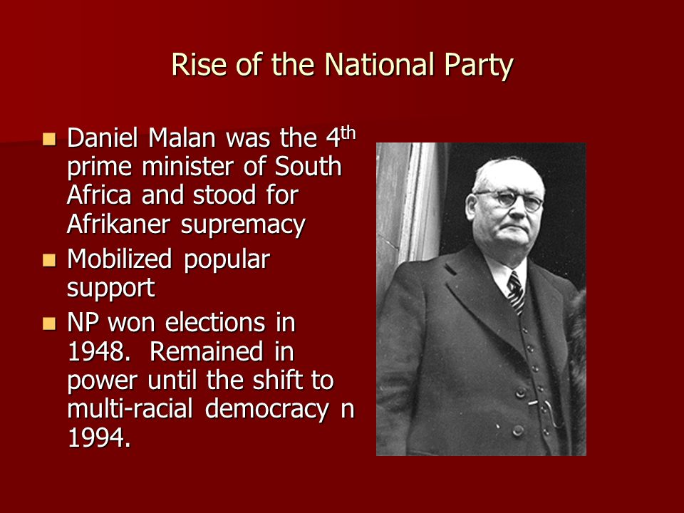 Rise of the National Party