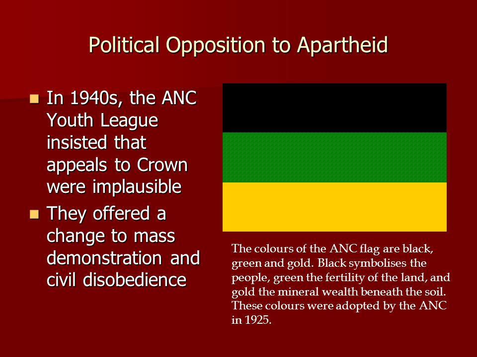 Political Opposition to Apartheid