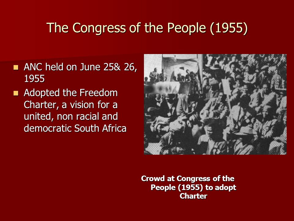 The Congress of the People (1955)