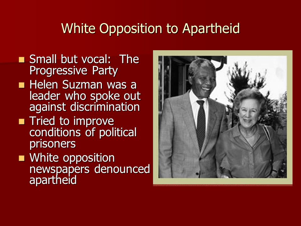 White Opposition to Apartheid