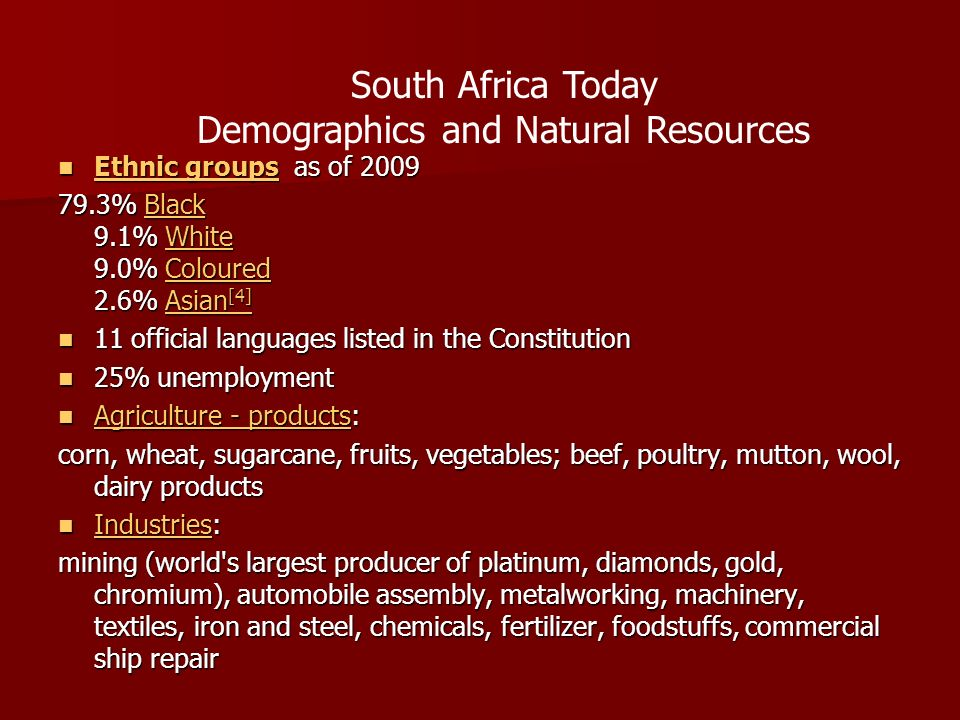 Demographics and Natural Resources