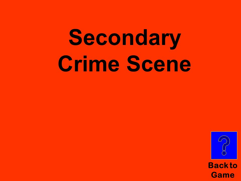 Secondary Crime Scene Back to Game