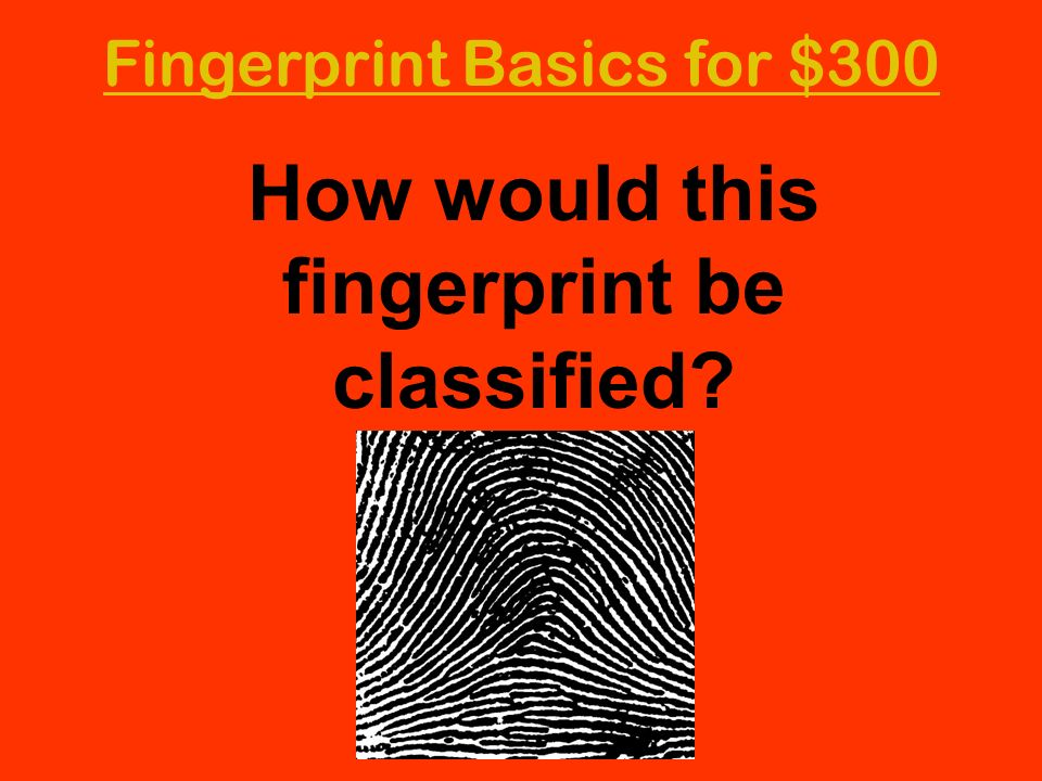 How would this fingerprint be classified