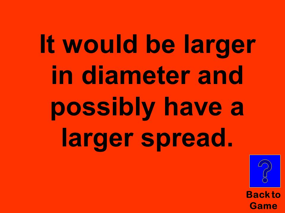 It would be larger in diameter and possibly have a larger spread.