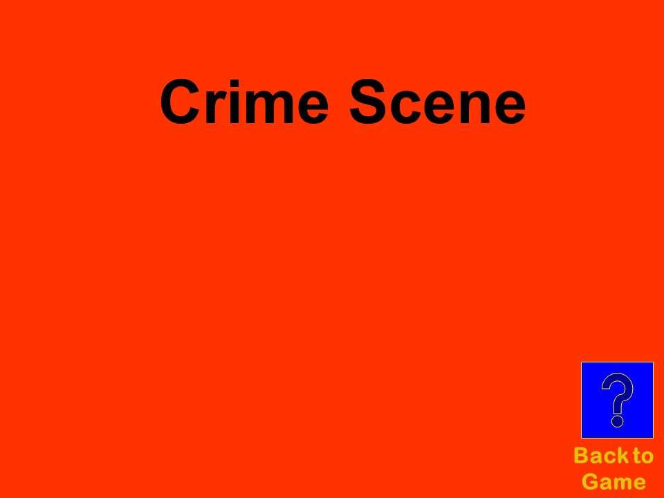 Crime Scene Back to Game