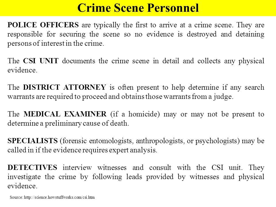 Crime Scene Personnel