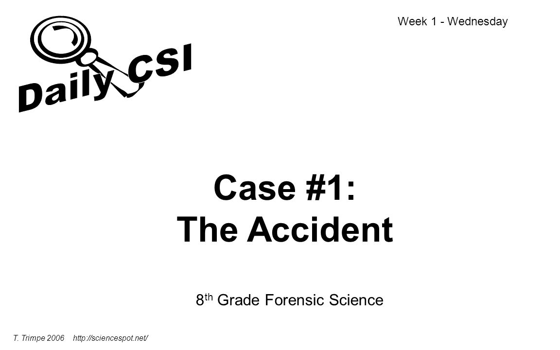 8th Grade Forensic Science